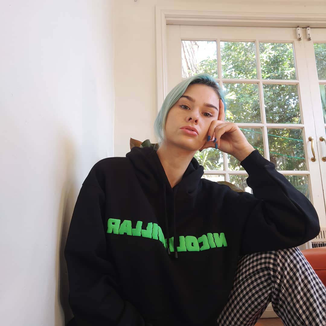Nicole Millar - Black Puff Print Hood